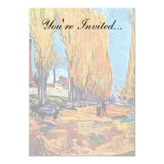 Van Gogh - Les Alyscamps Carton D'invitation 12,7 Cm X 17,78 Cm