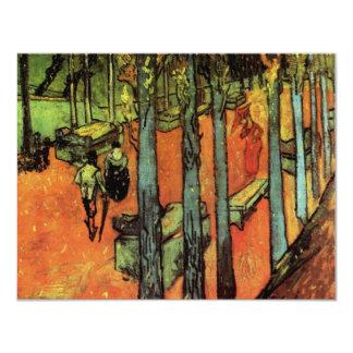 Van Gogh ; Les Alyscamps : Feuille d'automne en Carton D'invitation 10,79 Cm X 13,97 Cm