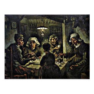Van Gogh - les mangeurs de pomme de terre Carte Postale