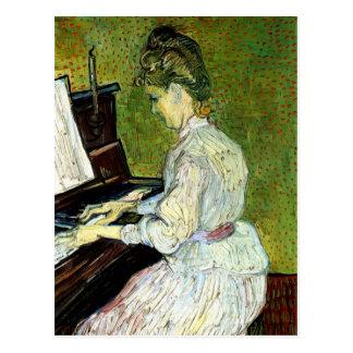Van Gogh ; Marguerite des prés Gachet au piano, Carte Postale