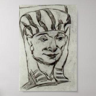 Van Gogh - masque d'une maman égyptienne 2 Affiches