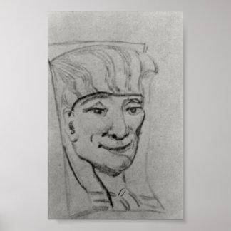 Van Gogh - masque d'une maman égyptienne 3 Affiches