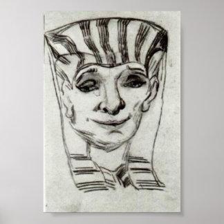 Van Gogh - masque d'une maman égyptienne Affiches