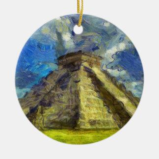 Van Gogh Mexique Ornement Rond En Céramique