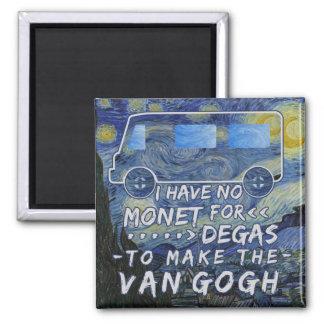 Van Gogh Monet dégazent la nuit étoilée de Aimant