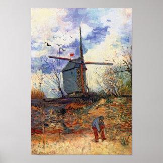 Van Gogh - moulin à vent de Galette de La de Le Affiche