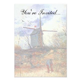 Van Gogh - moulin à vent de Galette de La de Le Carton D'invitation 12,7 Cm X 17,78 Cm
