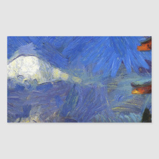 Van Gogh Mt-Fuji-Japon Sticker Rectangulaire