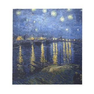 Van Gogh : Nuit étoilée au-dessus du Rhône Blocs Notes