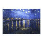 Van Gogh : Nuit étoilée au-dessus du Rhône Impressions Sur Toile