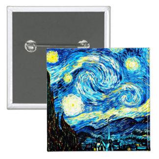 Van Gogh, nuit étoilée Badge