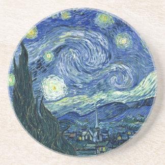 Van Gogh - nuit étoilée Dessous De Verre En Grès