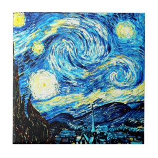 Van Gogh : Nuit étoilée Petit Carreau Carré