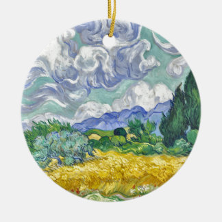 Van Gogh Ornement Rond En Céramique