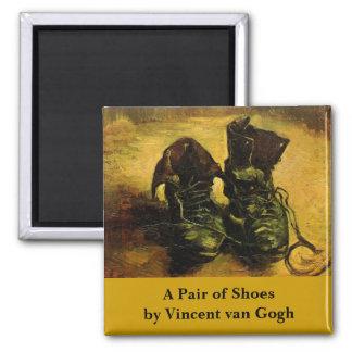 Van Gogh par paire de chaussures de cru toujours Magnets