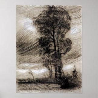 Van Gogh - paysage par temps orageux Posters