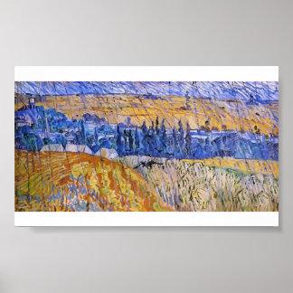 Van Gogh - paysage sous la pluie Posters