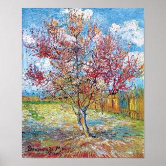 Van Gogh - pêchers roses Posters