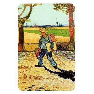 Van Gogh : Peintre sur son chemin de travailler Magnets En Vinyle