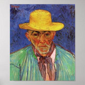 Van Gogh - portrait de la patience Escalier Posters