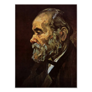 Van Gogh - portrait d'un vieil homme avec la barbe Posters