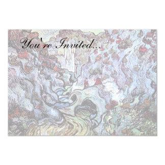 Van Gogh - ravin de Les Peiroulets Carton D'invitation 12,7 Cm X 17,78 Cm
