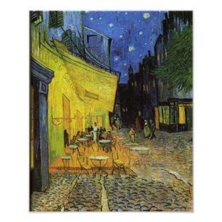 Van Gogh ; Terrasse de café la nuit Photos D'art