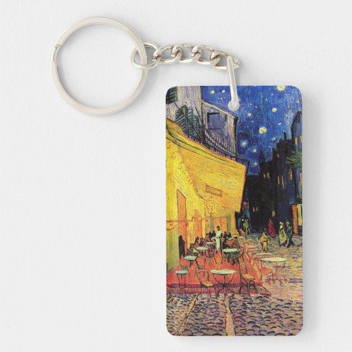 Van Gogh, terrasse de café la nuit, beaux-arts Porte-clé