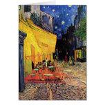 Van Gogh ; Terrasse de café la nuit, beaux-arts vi Carte De Vœux