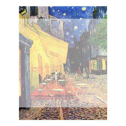 Van Gogh ; Terrasse de café la nuit, beaux-arts vi Prospectus En Couleur