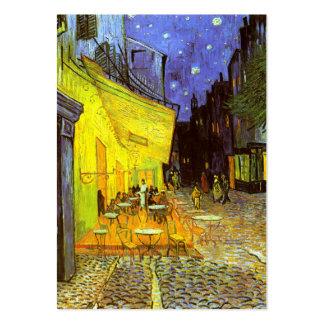 Van Gogh : Terrasse de café la nuit Cartes De Visite Personnelles