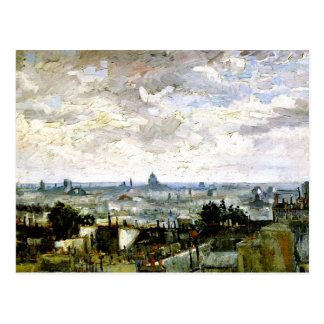 Van Gogh - toits de Paris Carte Postale