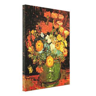 Van Gogh - vase avec des Zinnias Toiles