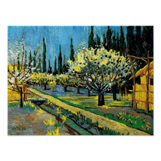 Van Gogh - verger fleurissant Posters
