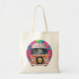 Van hippie super tote bag