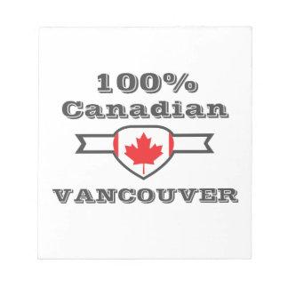 Vancouver 100% bloc-note