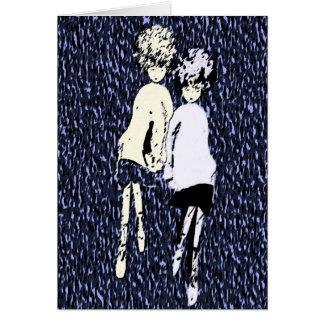 """""""Vannez et je"""" avec la carte de voeux d'amour"""
