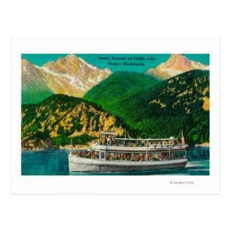 Vapeur de touristes sur le lac diablo, Skagit Carte Postale