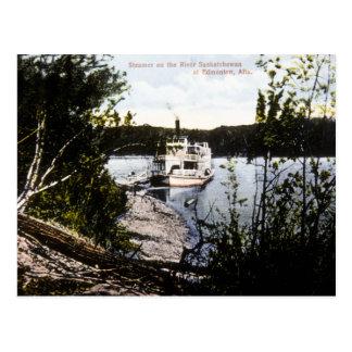 Vapeur sur la rivière Saskatchewan, Edmonton, Alta Carte Postale