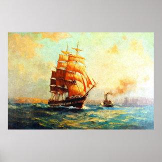 Vapeurs de voilier et d'océan posters
