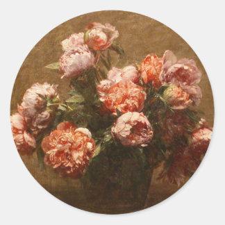 Vase à Henri Fantin-Latour d'autocollants de