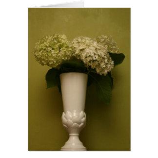 vase à hortensia carte de vœux