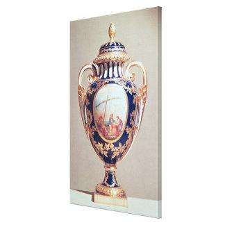 Vase à Sevres, moitié du 18ème siècle Toiles