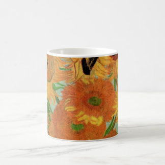 Vase à Van Gogh avec 12 tournesols, beaux-arts de Mug
