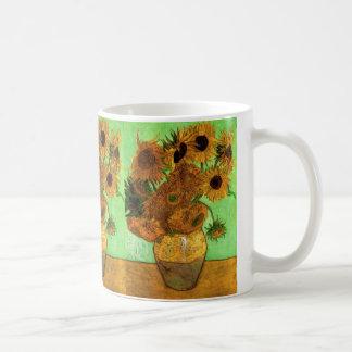 Vase à Van Gogh avec des tournesols, beaux-arts Mug