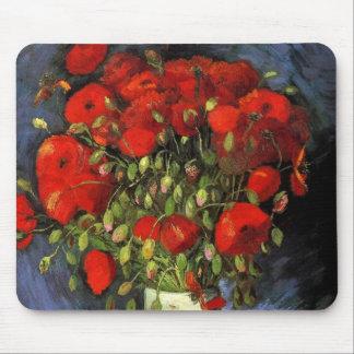 Vase à Van Gogh avec les pavots rouges, art Tapis De Souris