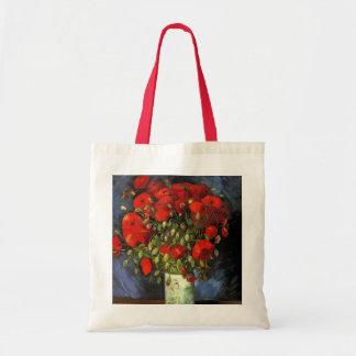 Vase à Van Gogh avec les pavots rouges, beaux-arts Sac En Toile