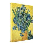 Vase à Vincent van Gogh avec des iris Toile Tendue