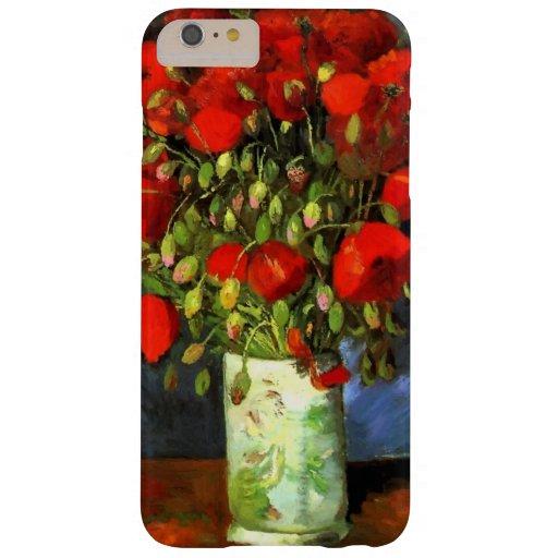 Vase à Vincent van Gogh avec les pavots rouges Coque iPhone 6 Plus Barely There
