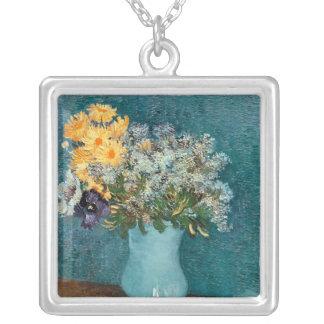 Vase à Vincent van Gogh | de fleurs, 1887 Pendentif Carré